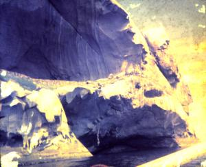 Sea level cave beneath main cave. Main cave floor at 30m above sea level.