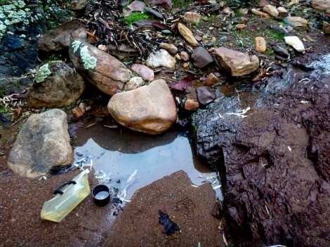 Finding water in the creek - lets camp