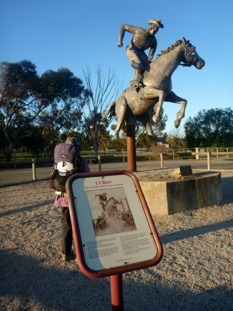 Statue to celebrate the horse Curio at Marrabel
