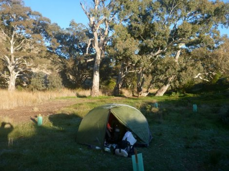 Camping at Burra Gorge