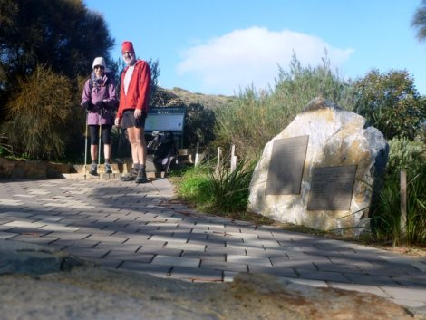 At the start of the Heysen Trail