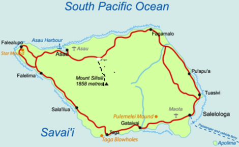 Samoa_Savaii_map