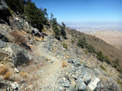 Well graded track but still climbing.