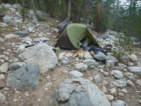 Purple lake camp