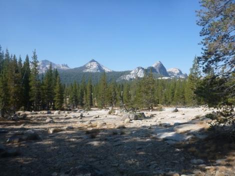Granite domes in Yosemite NP.