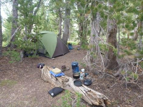 Sonora Pass camp at Sardine Creek