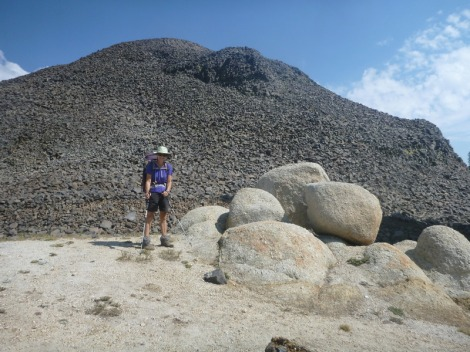 Domes of loose volcanic rock feels like we're in Cooktown