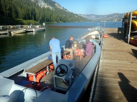 Water Taxi across Echo Lake