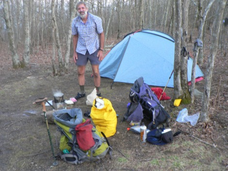 1st nights camp on Mt Springer in Georgia